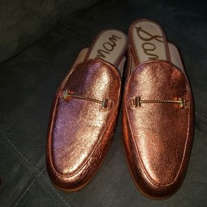 Sam Edelman Rose Gold Slide Loafers 8M